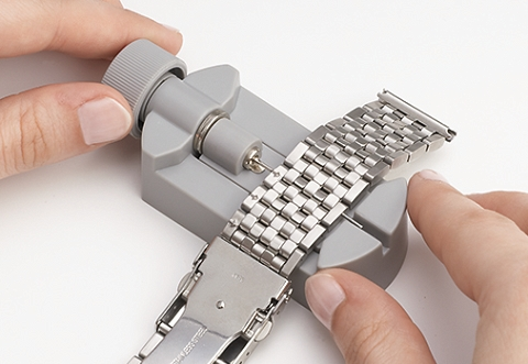 Shortening Metal Watch Bands with round pins