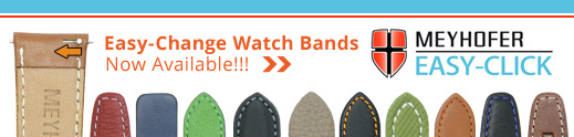 Easy-Change, Easy to exchange watch straps from Meyhofer EASY-CLICK