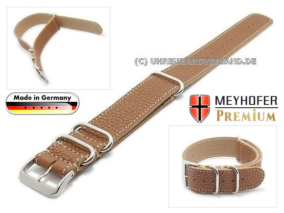 MyFcS-LC300 Watch strap 20mm light brown Nato-Special