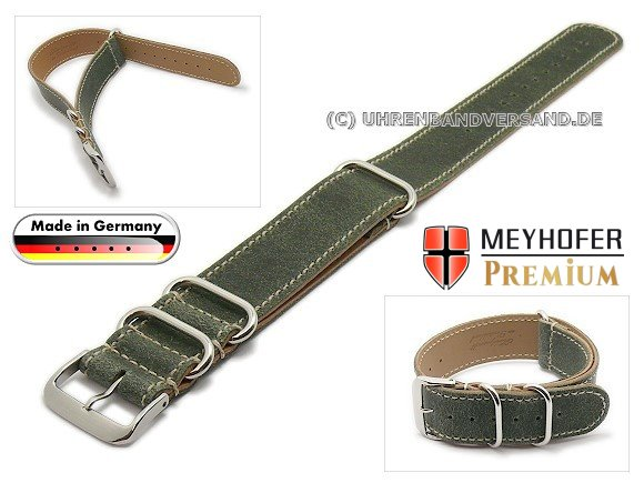MyFcS-LC301 Watch strap 20mm green Nato-Special