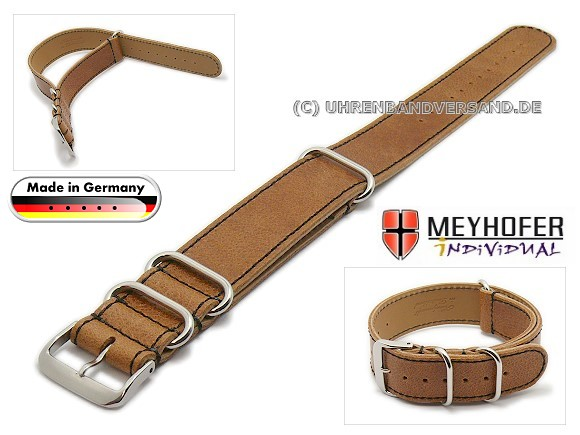 MyFcS-LC302 Watch strap 20mm brown Nato-Special