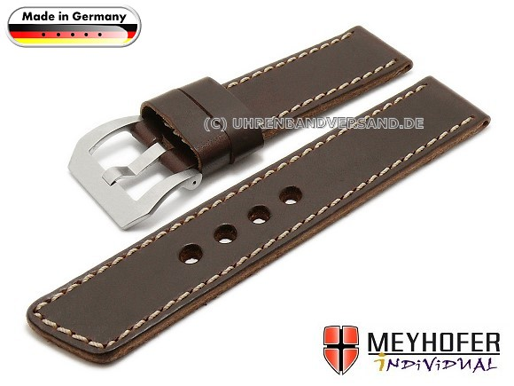 MyFcS-LC352 Watch Strap 22mm dark brown Arlington