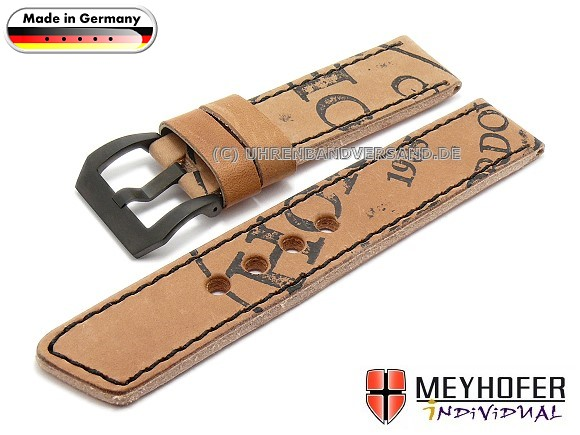 MyFcS-LC351 Watch Strap 22mm light brown Shell Cordovan