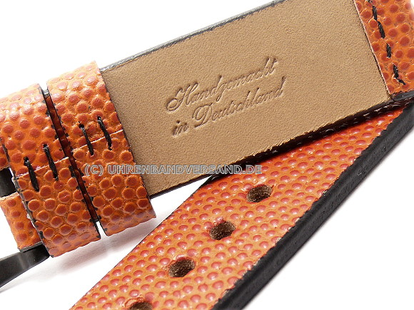 Atlanta Watch Strap, Basketball leather, Handmade in Germany