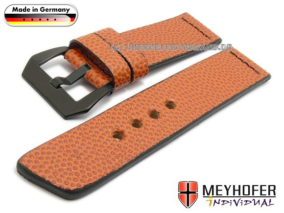 Atlanta Watch Strap, Basketball leather from Meyhofer