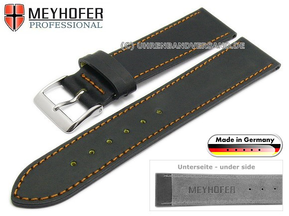 Meyhofer Homberg watch strap made of shell cordovan leather, on www.watch-band-center.com