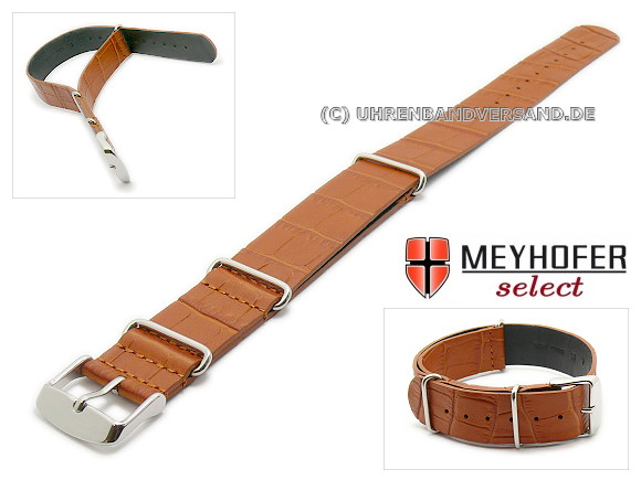 Nato Style watch strap Maracay from the brand Meyhofer, light brown