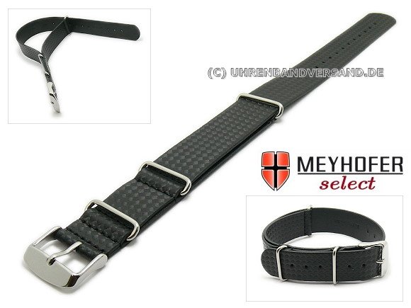 Watch Strap Hockenheim, Carbon Style NATO, from the brand Meyhofer