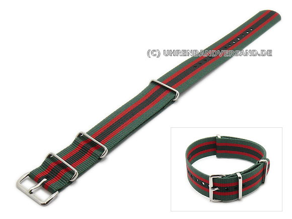 PT-KB8 Watch Strap green, red, black