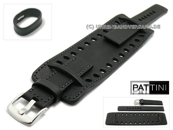 Watch Strap with leather pads from Pattini LC11