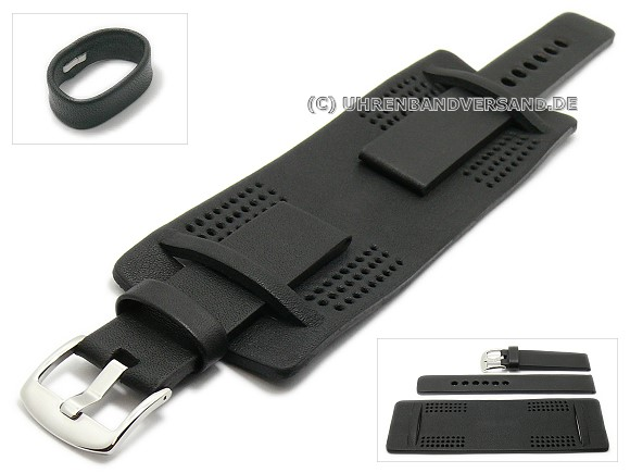 Watch Strap with leather pads from Pattini LC13