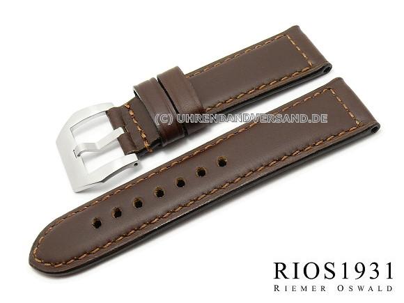 Watch band milano 22mm dark brown for officine panerai for Officine panerai milano