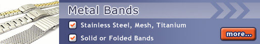 Metal Watch Bands: Stainless steel and more...
