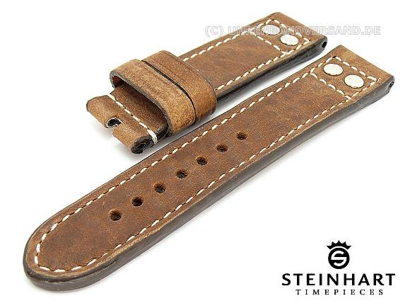Watch strap Pilot Rustica STEINHART 22mm light brown ...