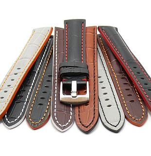 Sporty watch strap  \-Estero\- alligator grain multi-colored from MEYHOFER