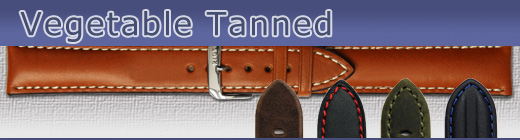 Watch straps made of vegetable tanned leather
