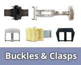 Buckles, butterfly clasps, flip clasps, slide clasps and more...