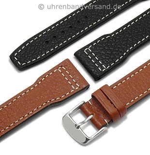 Aviator watch strap \-Typhoon\- genuine buffalo leather by RIOS