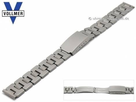 Watch strap -Rastatt- 14mm titanium with security clasp by VOLLMER - Bild vergrößern