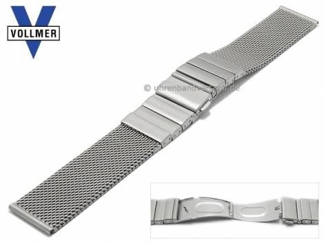 Watch strap -Albstadt- 18mm stainless steel mesh SES robust structure with clasp by VOLLMER - Bild vergrößern