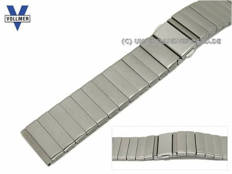 Watch strap -Offenburg- 20mm titanium SES with clasp by VOLLMER - Bild vergrößern