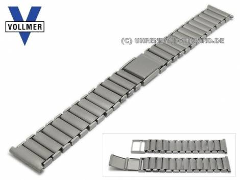 Watch strap -Sinsheim- 14mm titanium with clasp by VOLLMER - Bild vergrößern