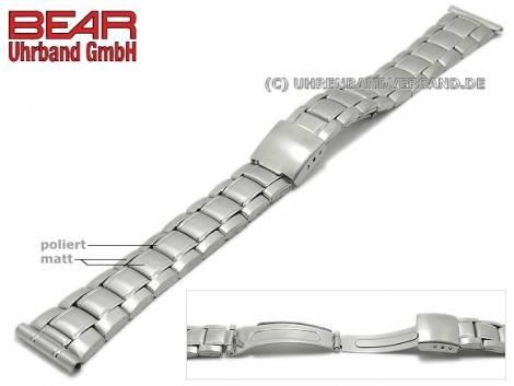 Watch strap 16mm stainless steel folded partly polished by BEAR - Bild vergrößern