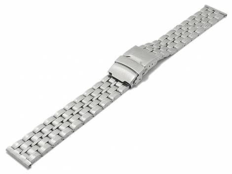 Watch strap XL 20mm stainless steel folded partly polished with security clasp by BEAR - Bild vergrößern