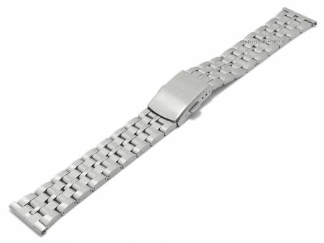 Watch strap 20mm stainless steel folded partly polished with clasp by BEAR - Bild vergrößern