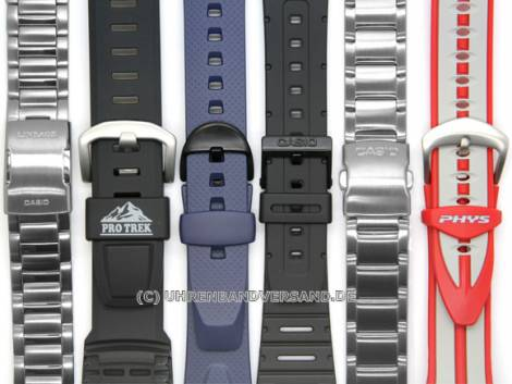 CASIO- replacement strap 20mm black resin (70621707) for ALT-6000, ALT-6100, various models - Bild vergrößern