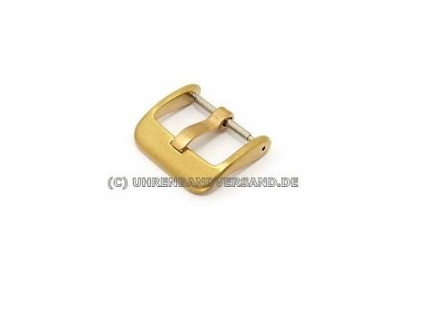 Large buckle (CrBD-2402) 20mm stainless steel golden finely brushed - Bild vergrößern