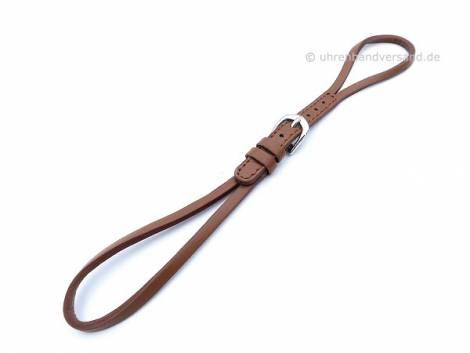 Cordette watch strap light brown leather smooth with buckle - Bild vergrößern