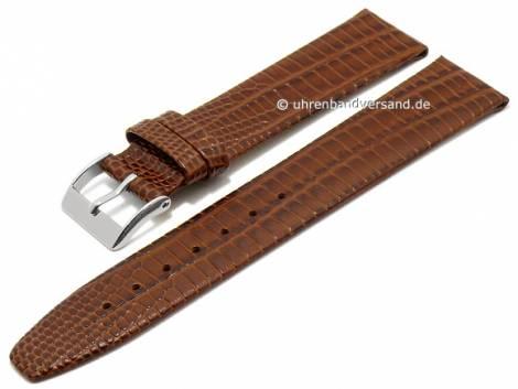 Watch strap 20mm brown leather teju grain matt by CONDOR (width of buckle 18 mm) - Bild vergrößern