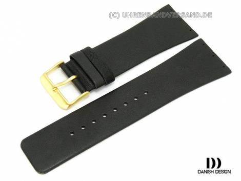 Replacement strap Danish Design 27mm black leather for IQ12Q641 - Bild vergrößern