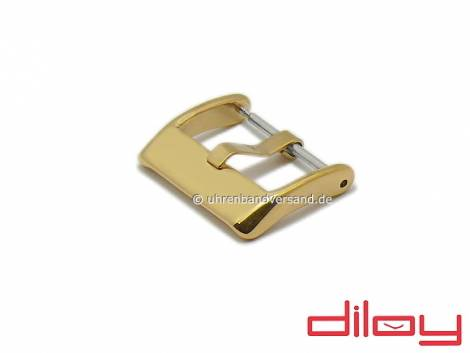 Large Buckle (DyBD-7820S) 20mm golden stainless steel polished by DILOY - Bild vergrößern