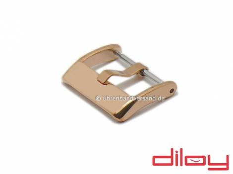 Large Buckle (DyBD-7820S) 20mm rosé golden stainless steel polished by DILOY - Bild vergrößern