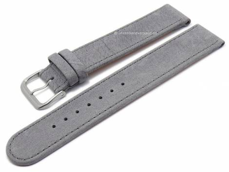 Watch strap XS -Natural- 16mm grey leather vegetable tanned with titanium buckle by DI-MODELL (width of buckle 16 mm) - Bild vergrößern