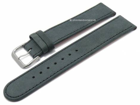 Watch strap XS -Natural- 16mm anthracite leather vegetable tanned with titanium buckle DI-MODELL (width of buckle 16 mm) - Bild vergrößern
