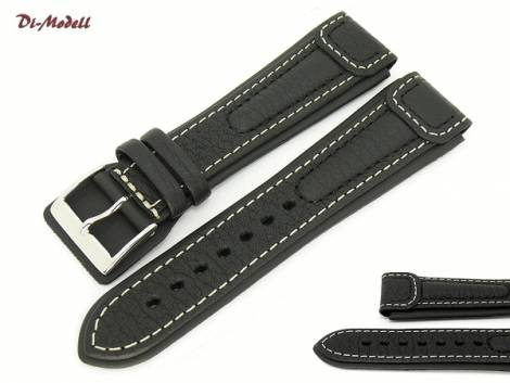 Watch strap 18mm black by Di-Modell -Chronissimo waterproof- (width of buckle 18 mm) - Bild vergrößern