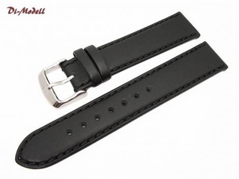 Watch band XL 18mm black by Di-Modell -Oregon- saddle leather handstitched (width of buckle 16 mm) - Bild vergrößern