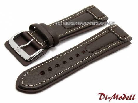 Watch strap 22mm dark brown by Di-Modell -Chronissimo waterproof- light stitching (width of buckle 20 mm) - Bild vergrößern
