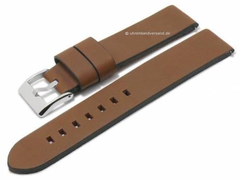 Watch strap 24mm brown leather vintage look with easy change spring bars DILOY (width of buckle 24 mm) - Bild vergrößern