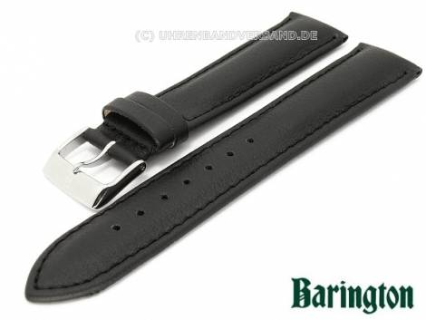 Watch band 22mm black Barington -Aqua Chrono- waterproof stitched (width of buckle 20 mm) - Bild vergrößern