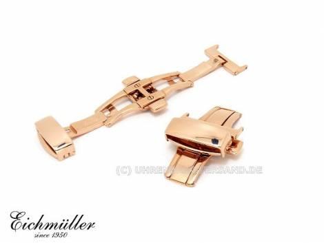 Butterfly clasp (EmBFS-75) 20mm stainless steel PVD rosé golden with push button - Bild vergrößern