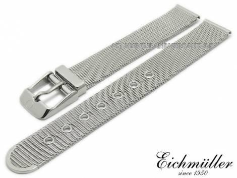 Watch strap 14mm stainless steel mesh polished fine structure with buckle by BandOh - Bild vergrößern