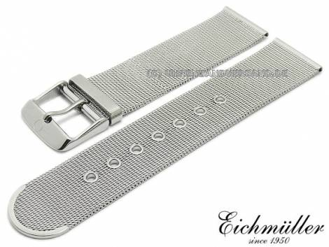 Watch strap 20mm stainless steel mesh polished fine structure with buckle by BandOh - Bild vergrößern