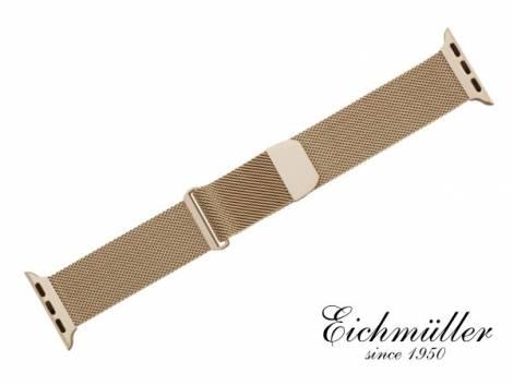 Watch strap 44mm rosé golden mesh fine structure magnetic clasp suitable for APPLE-smart watches from EICHMUELLER - Bild vergrößern