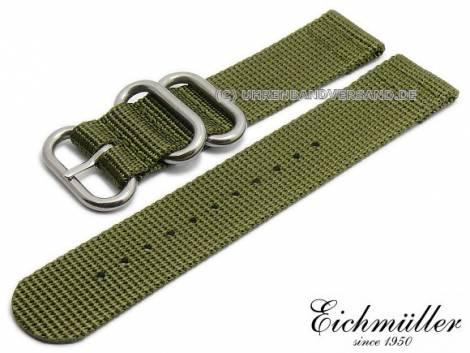 Watch strap 20mm olive textile military look ZULU NATO design by EICHMÜLLER - Bild vergrößern