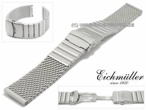 Watch strap 20mm mesh brushed robust structure with clasp by EICHMÜLLER - Bild vergrößern