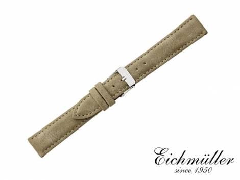 Watch strap 14mm beige VEGAN vintage look by EICHMÜLLER (width of buckle 12 mm) - Bild vergrößern